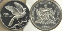 TRINIDAD AND TOBAGO $1 BIRD FRONT BIRD EMBLEM BACK 1976 PROOF KM34 READ DESCRIPTION CAREFULLY!! - Trinidad En Tobago