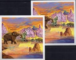 Mammut WWF In Naturschutz Elefanten 1991 Tansania Block 164 ** Plus O 12€ Bf Elephas Bloc Fauna Sheet Of Tanzanie Africa - Nature