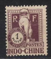 GF291 - INDOCINA 1922 , Tasse Yvert  Il N. 43  *  Linguella Forte - Indocina (1889-1945)
