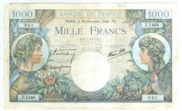 1000 Frs COMMERCE ET INDUSTRIE  19-12-1940   ETAT  TTB    J1406 - 1 000 F 1940-1944 ''Commerce Et Industrie''