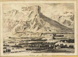 GRAVURE 19 éme - Savoie - CHATEAU Des MARCHES Et Le Mont GRANIER - Gravé Par Baugean - Engravings
