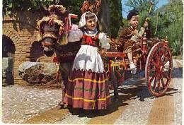 CARRETTO SICILIANO CON BAMBINI IN COSTUME  - SICILIA - Costumi