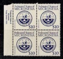 W0002 MICRONESIA 1985, Mi 36 Official Seal Block Of 4  MNH - Micronesia