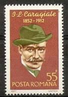 ROMANIA 1977 ION LUCA CARAGIALE SC # 2727 MNH - 1948-.... Republiken