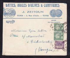 E-AFR-01  LETTER FROM TUNIS TO CZECHOSLOVAKIA 04.06.1920