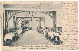 Carlton=Hotel Und Restaurant Kons (Inhaber Kons & Pfennings) Unter Den Linden - Berlin - Ecke Charlottenstr. 1904 (U - Germany