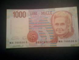 """L. 1000 Tipo '90 - """"Montessori"""" - DM 24.10.1990 -  FDS. - [ 2] 1946-… : République"""