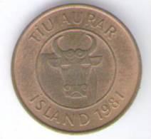 ISLANDA 10 AURAR 1981 - Islanda