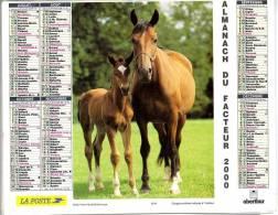 CALENDRIER AVEC CHEVAUX 2000 AVEC FEUILLET LOT ET GARONNE - Calendari
