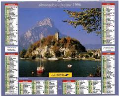 CALENDRIER AUTRICHE LAC TRAUNSEE & SAINT SERVAN LA TOUR SOLIDOR 1996 AVEC FEUILLET LOT ET GARONNE - Formato Piccolo : 1991-00