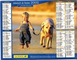 CALENDRIER ORIGINAL ENFANTS & ANIMAUX 2002 AVEC FEUILLET LOT ET GARONNE - Calendari