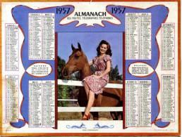 CALENDRIER MON COMPAGNON 1957 AVEC FEUILLET GIRONDE - Calendarios