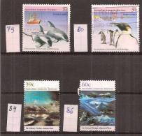 Australië    Australian Antarctic Territory   Y/T    79 + 80 + 84 + 86        (0) - Australian Antarctic Territory (AAT)