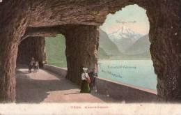 CPA :   AXENSTRASSE  (suisse):   Mit Leute En 1906.    (8993) - UR Uri
