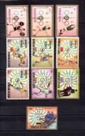 Tchad   1972-73 .-   Y&T Nº   275/277 - 278/281 - 286/288 - Chad (1960-...)