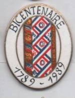 Superbe Pin´s En EGF , Bicentenaire De La Révolution Française , 1789 - 1989 - Badges