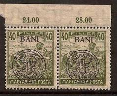 ROMANIA 1919 HUNGARY OCCUP CLUJ PAIR SC # 5N9 MNH - Fiscali