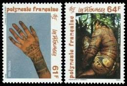 Polynésie 1992 - Tatouages - 2val Neuf // Mnh - French Polynesia