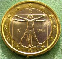 1 Euro 2002 ITALY UNC LEONARDO DA VINCI - Italy