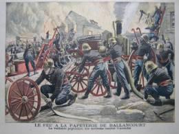PETIT JOURNAL SUPPLEMENT ILLUSTRE 1905  N°742  SAPEUR POMPIER BALLANCOURT - Le Petit Journal