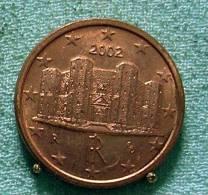 1 CENT  2002 ITALY UNC Castel Del Monte - Italy