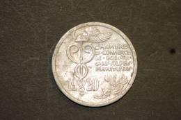 Monnaie, France, Jeton De Nécéssité Ou Monétaire, 10 Cent Chambre De Commerce De Nice Et Des Alpes Maritimes 1920 - Monétaires / De Nécessité