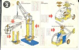 manuel d'instruction pour jeu de Meccano No 2
