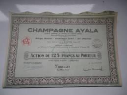 CHAMPAGNE AYALA (ay-marne) - Actions & Titres