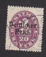 Bavaria, Scott #O55, Used, Lion Overprinted, Issued 1920 - Bavaria