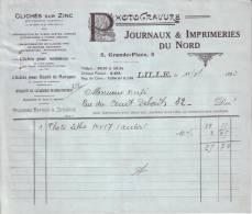 NORD - LILLE - JOURNAUX & IMPRIMERIES DU NORD - PHOTOGRAVURE -1933 - Imprimerie & Papeterie