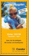 Condor Flugplan Winter 1997/98 - Flugverbindungen - Catalogues