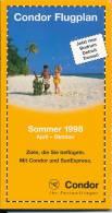 Condor Flugplan Sommer 1998 - Flugverbindungen - Catalogi