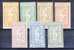 Oltre Giuba 1926 SS 5 Annessione Oltre Giuba N. 29-35 MLH Cat. € 8 - Oltre Giuba