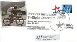 USA. Twilight Créterium , Ville De Keene, New-Hampshire,  Année 2003, Enveloppe Souvenir - Ciclismo