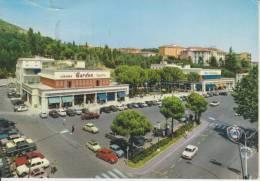 SIENA-CHIANCIANO TERME-PIAZZA ITALIA-CINEMA TEATRO GARDEN-DISTRIBUTORE BENZINA FINA-TAGLIETTO LATO SUPERIORE-FG-V24-7-68 - Siena