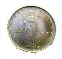 Vatican PAPAL  PAUL VI 100  LIRE FDC   1965 RARE - Vatican