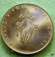 Vatican PAPAL  PAUL VI 100  LIRE FDC   1971 RARE - Vatican
