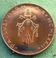 Vatican PAPAL  PAUL VI 100  LIRE FDC   1972 - Vatican