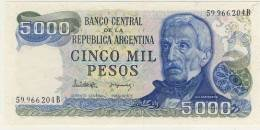 BILLET # ARGENTINE # 5000  PESOS # CINCO MIL PESOS  # N°305 # 1976/82  # GENERAL SAN MARTIN - Argentine
