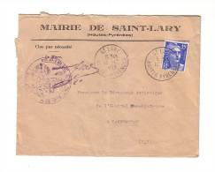 Mairie De Saint-Lary Hautes Pyrénées Marianne De Gandon Hôpital Psychiatrique Lannemezan 1953 - 1945-54 Marianne (Gandon)