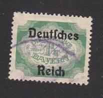 Bavaria, Scott #O65, Used, Officical Overprinted, Issued 1920 - Bavaria