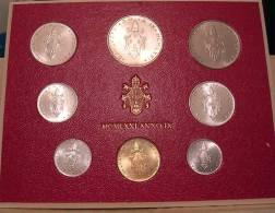 Vatican PAPAL  PAUL VI FOLDER 1971  8 COINS UNC 1 SILVER 500 LIRE RARE - Vatican