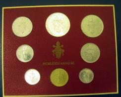 Vatican PAPAL  PAUL VI FOLDER 1973  8 COINS UNC 1 SILVER 500 LIRE RARE - Vatican