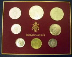 Vatican PAPAL  PAUL VI FOLDER 1974  8 COINS UNC 1 SILVER 500 LIRE RARE - Vatican