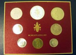Vatican PAPAL  PAUL VI FOLDER 1976  8 COINS UNC 1 SILVER 500 LIRE RARE - Vatican