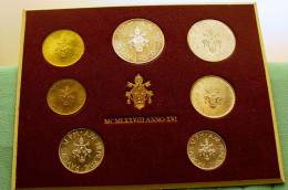 Vatican PAPAL  PAUL VI FOLDER 1978  8 COINS UNC 1 SILVER 500 LIRE RARE - Vatican