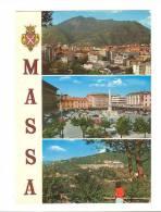B2556 Massa - Piazza Aranci - Panorama - Stemma Cittadino - Auto Cars Voitures / Non Viaggiata - Massa