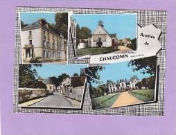 CPSM  - 77 - Amitiés De CHAUCONIN - Multivues - église - Chateau - Frankreich