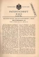 Original Patentschrift - Deutsche Waffen Und Munitionsanstalt In Berlin ,1900, Schloß Für Maschinengewehr , Gewehr , MG - Ausrüstung