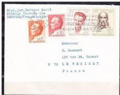 Brief MiF Berühmte Männer U.a., Belgrad Nach Le Vesiret 1968 (12848) - Jugoslawien